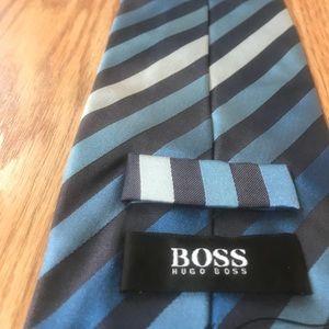 Hugo Boss Silk Italian Diagonal Stripe Tie